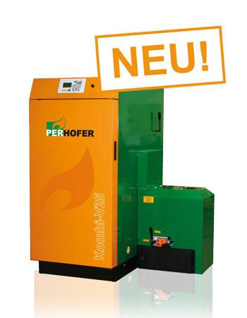 SONNE HEIZT Energietechnik - Holz-Pelletskessel Kombi V25-V16